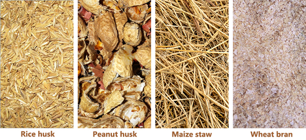 crop residues for making biomass pellets
