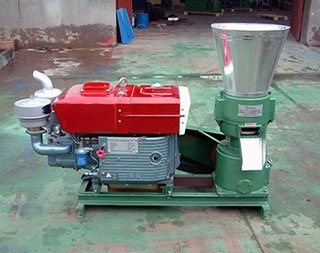 flat die diesel engine pellet mill for sale