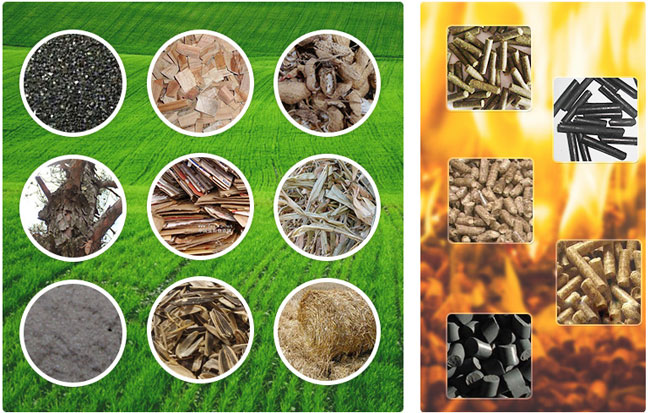 Raw materials of electric motor pellet mill