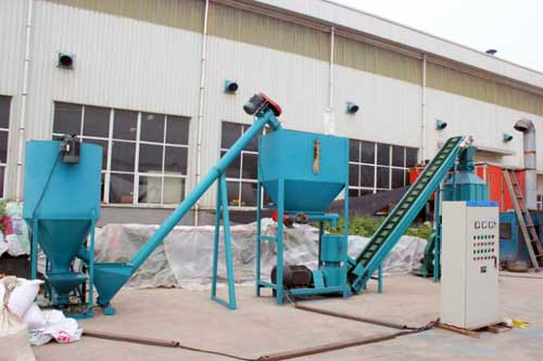 screw conveyor in pellets production