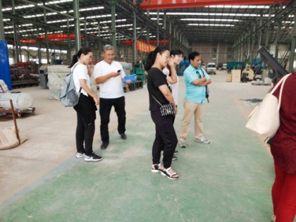 Malaysian customers came to visit our pellet press factory