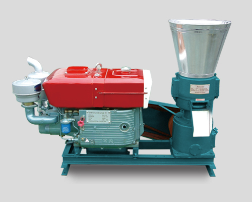 Pellet Press with Diesel Engine