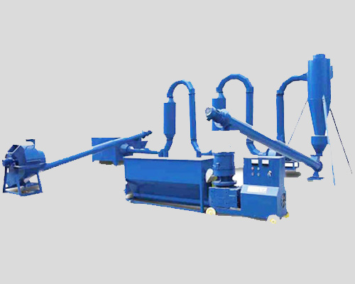 Biomass pellet production line