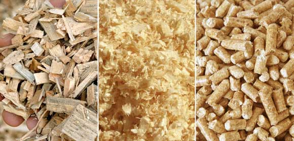 wood chips sawdust pellets